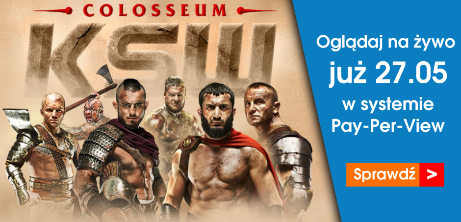 Gala KSW 39 w systemie Pay-Per-View.