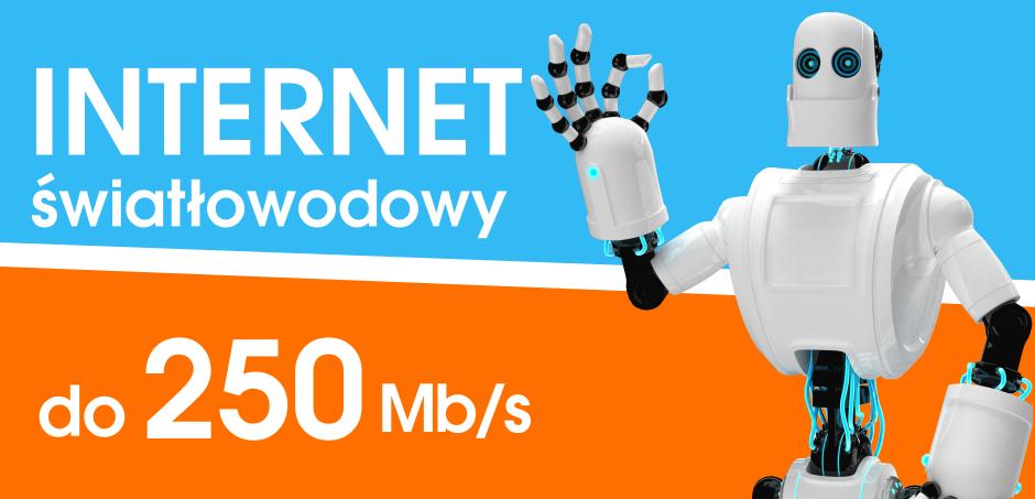 Internet światłowodowy do 250 Mb/s
