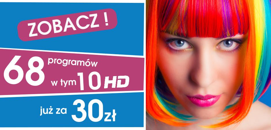 Telewizja 68 programów w tym 10 HD za 39 zł