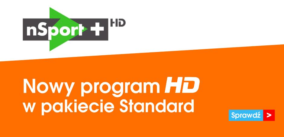 nSport+ HD - Nowy program sportowy w pakiecie Standard.