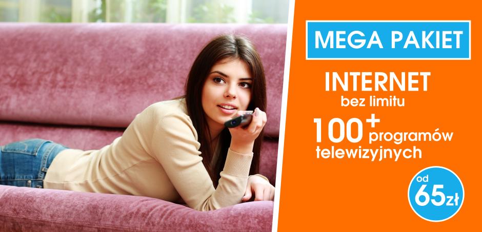 Mega pakiet 100 programów + internet bez limitu już od 65 zł