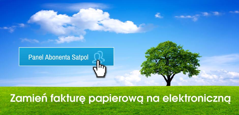 Panel Aboneta Satpol - zamień fakturę papierową na elektroniczną