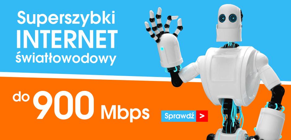 Superszybki internet światłowodowy do 900Mbps
