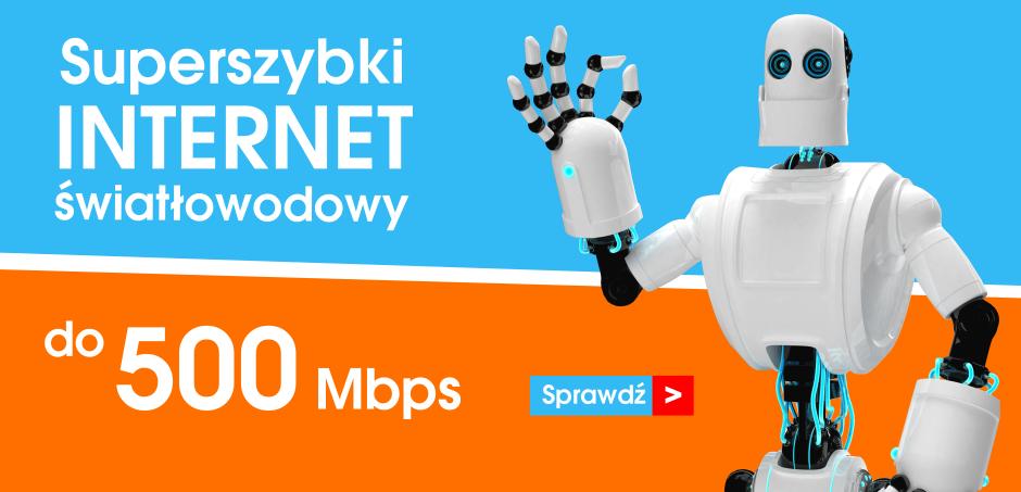 Superszybki internet światłowodowy do 500 Mbps